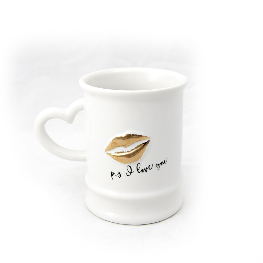 Gold P.S. I love You  Mug - LoveEmme, Product_Type, Product_Vendor