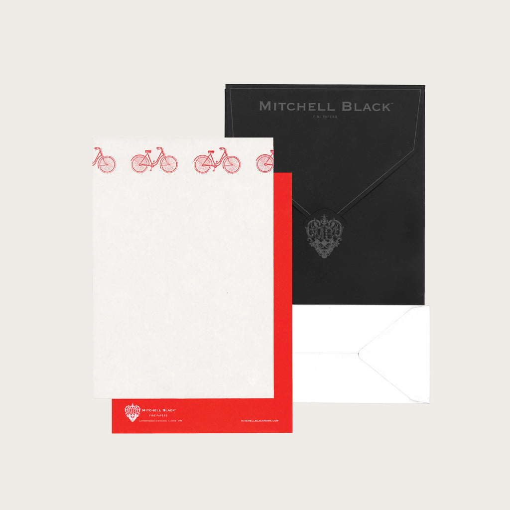 Bicycle Letterpress  Stationery - LoveEmme, Product_Type, Product_Vendor