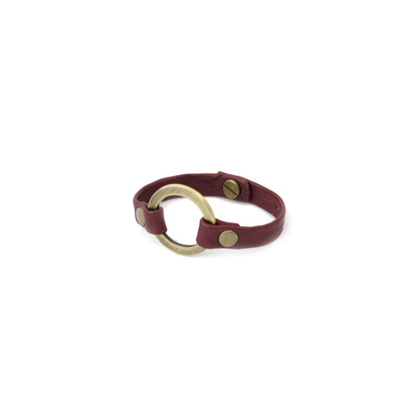 Burgundy Circle of Love Bracelet - LoveEmme, Product_Type, Product_Vendor