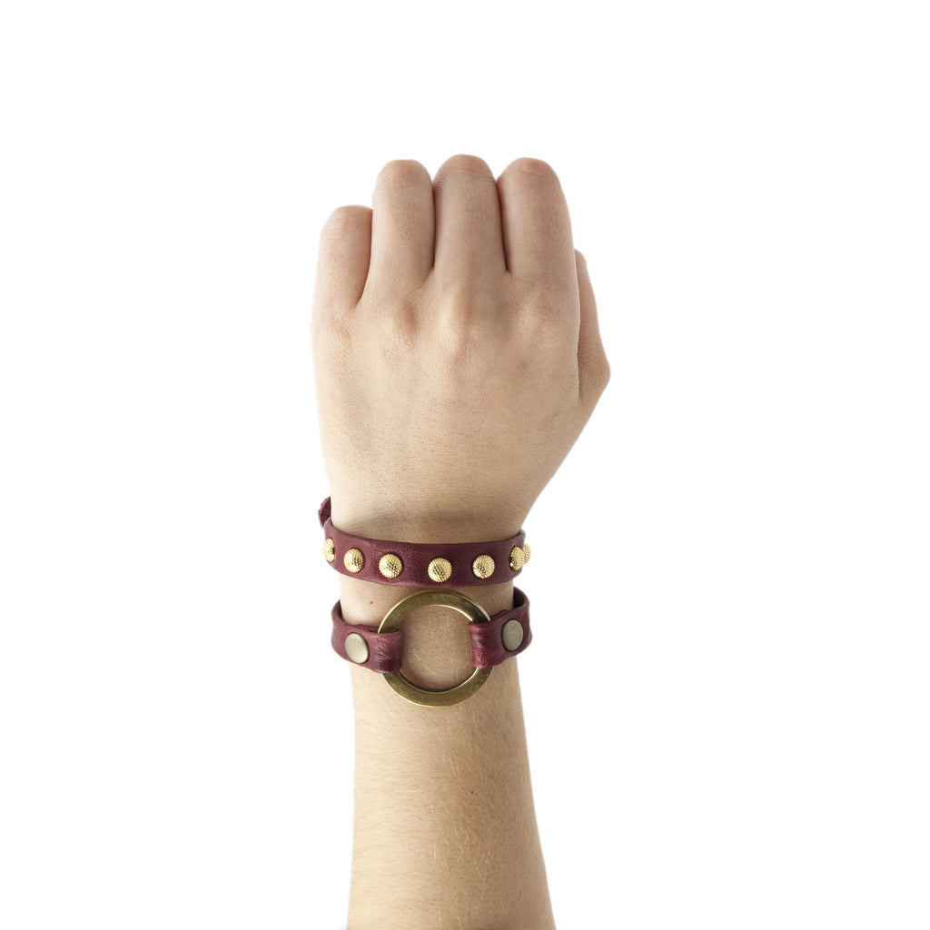 Burgundy Flower Child Giving Bracelet - LoveEmme, Product_Type, Product_Vendor