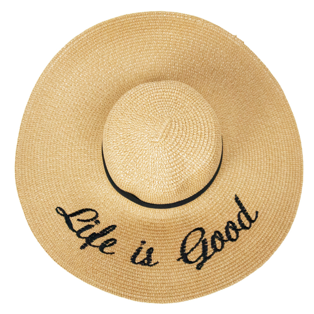 Life is Good Sunhat - LoveEmme, Product_Type, Product_Vendor
