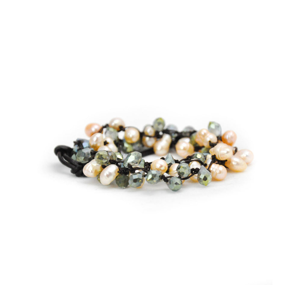 Pearl & Green Beaded Headband - LoveEmme, Product_Type, Product_Vendor