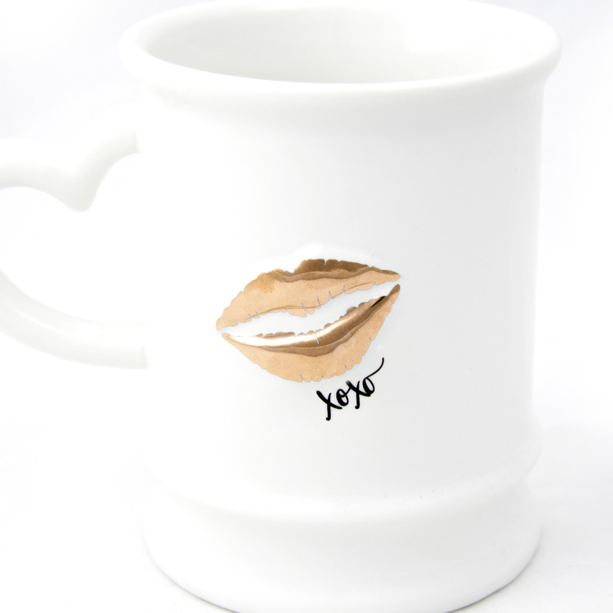 Gold XOXO Kiss Mug - LoveEmme, Product_Type, Product_Vendor