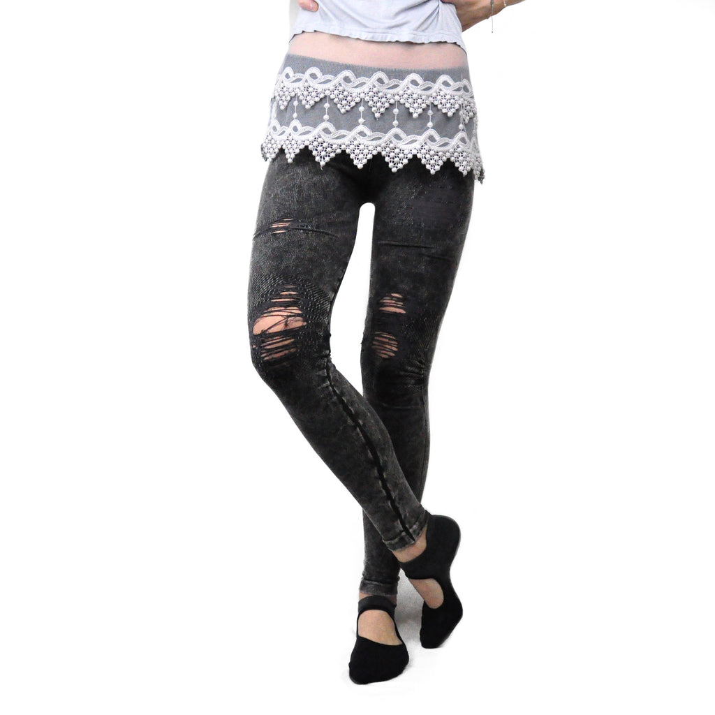 Charcoal Distressed Jeggings - LoveEmme, Product_Type, Product_Vendor