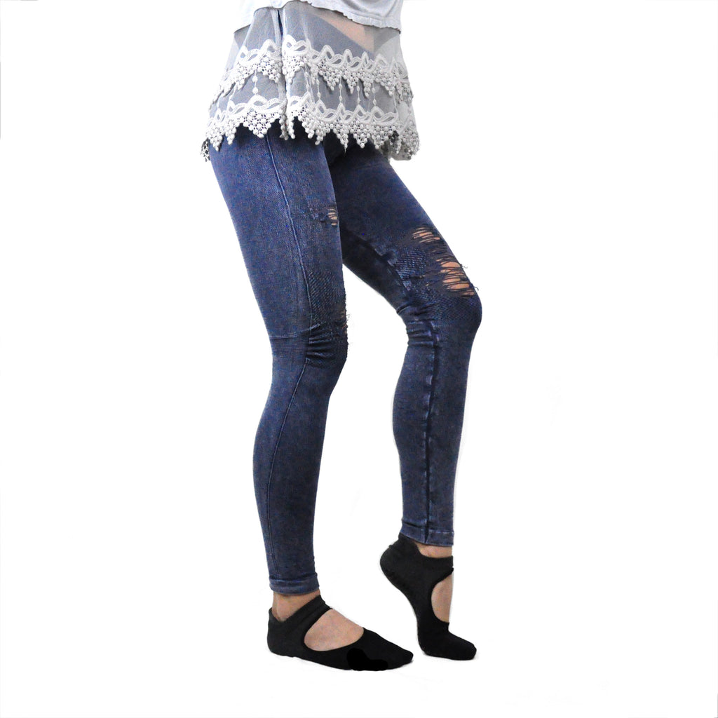 Denim Distressed Jeggings - LoveEmme, Product_Type, Product_Vendor