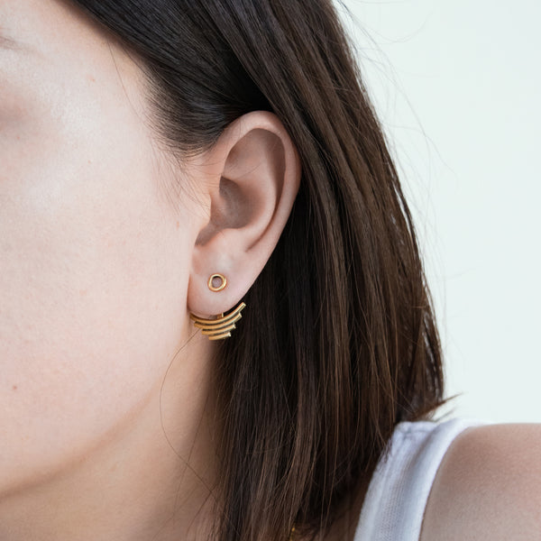 Nisha Jacket Stud Earring - LoveEmme, Product_Type, Product_Vendor