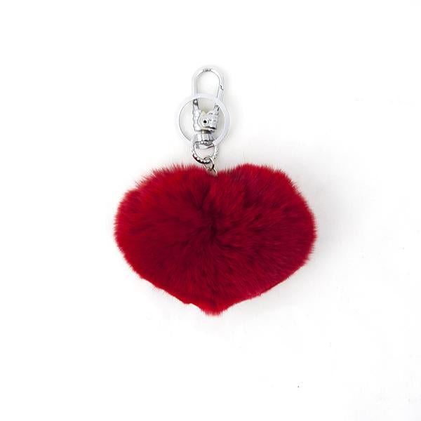 Genuine Fur Heart Key Ring - LoveEmme, Product_Type, Product_Vendor