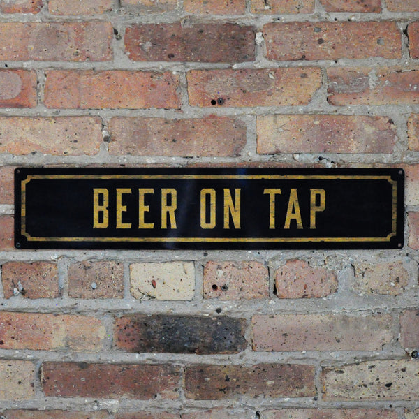 """Beer On Tap"" Wall Sign"