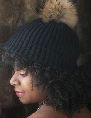 Ribbed Fur Beanie - LoveEmme, Product_Type, Product_Vendor