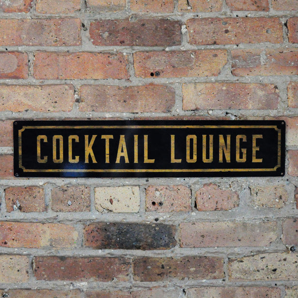 """Cocktail Lounge"" Wall Sign"