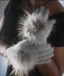Dove Grey Fur Gloves - LoveEmme, Product_Type, Product_Vendor