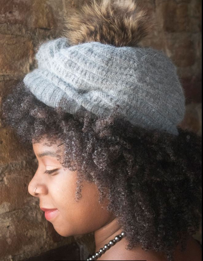 Knitted Fur Slouch - LoveEmme, Product_Type, Product_Vendor