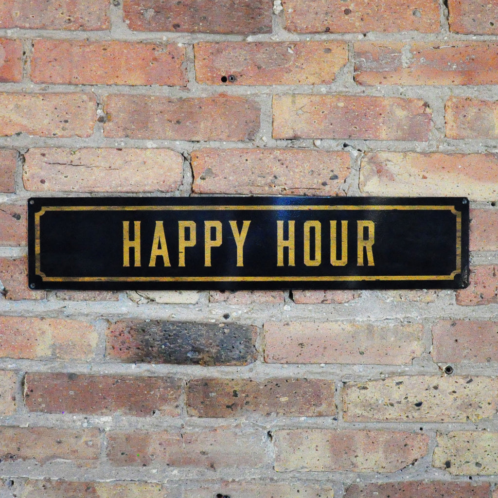 """Happy Hour"" Wall Sign - LoveEmme, Product_Type, Product_Vendor"