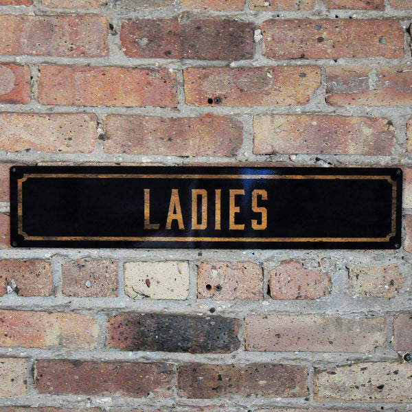 """Ladies"" Wall Sign"