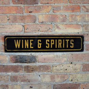 """Wine & Spirits"" Wall Sign - LoveEmme, Product_Type, Product_Vendor"