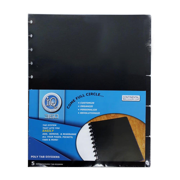 Poly Tab Dividers - Large