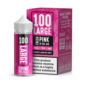 100 Large 100ml Short-Fill: Fresh Pink of Bel Air
