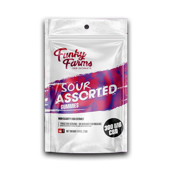 Funky Farm: Sour Assorted Flavour Gummies (30pcs) - 300mg