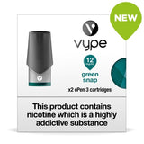 Vype ePen 3 Pods - Green Snap - Pack of 2