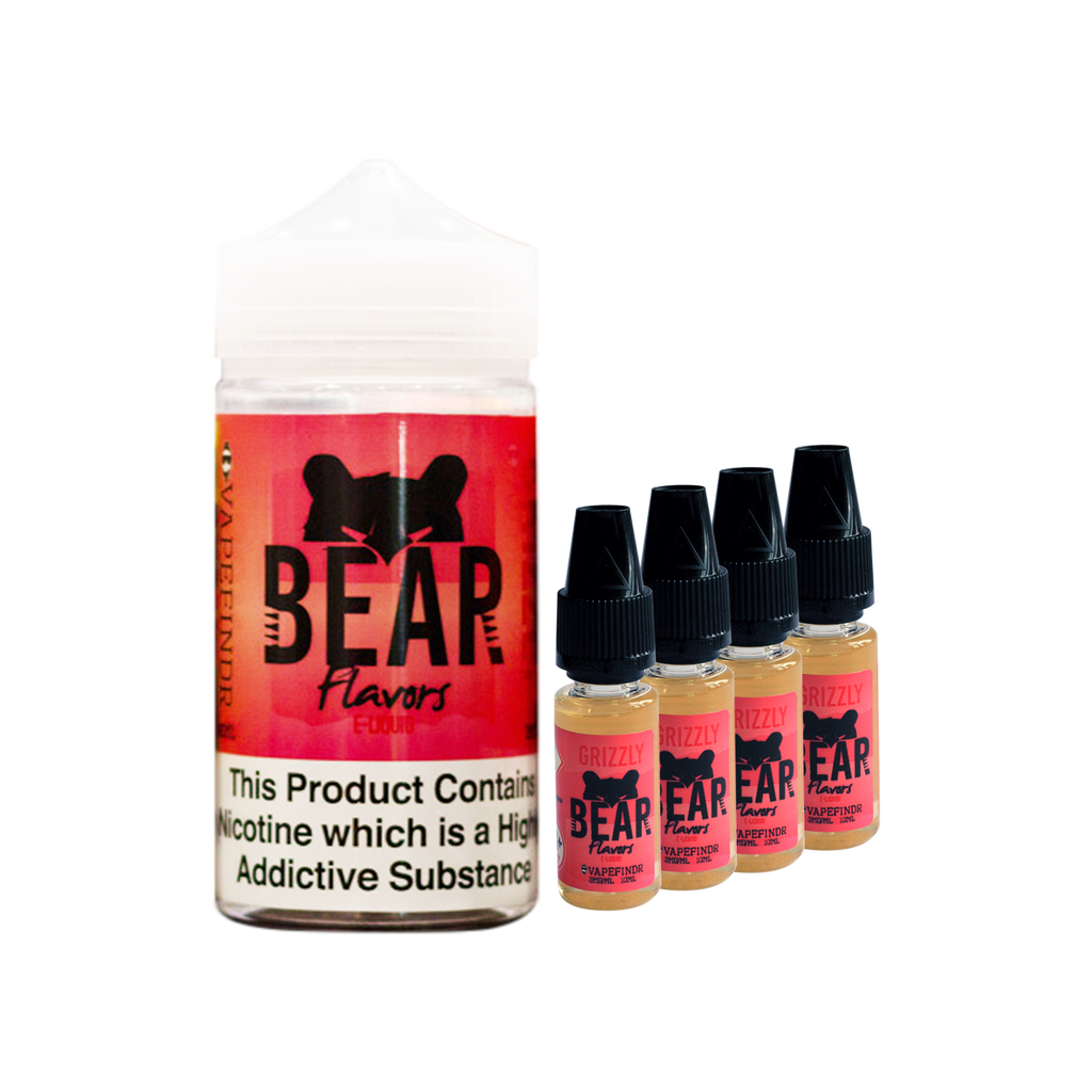 Bear Flavors - Grizzly - Pack of 4 x 10ml in 200ml Chubby Bottle