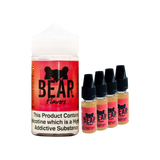 BLACK FRIDAY - Bear Flavors - Grizzly - Pack of 4 x 10ml in 200ml Chubby Bottle