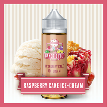 Bakers Fog - Raspberry Cake Ice-Cream 100ml   Short Fill