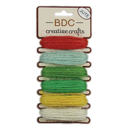 Jute String 6 colors x 5 meters - Magnolia