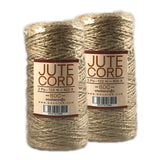Jute Cord 2 ply 400ft - 2 Pack