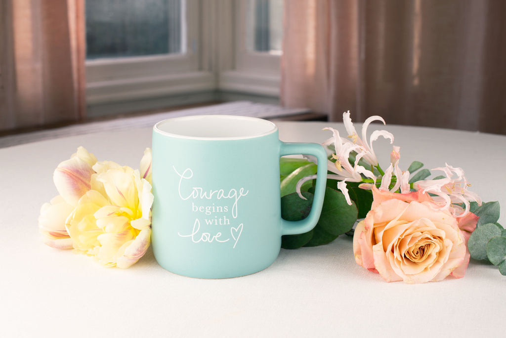 Courage Begins with Love mug