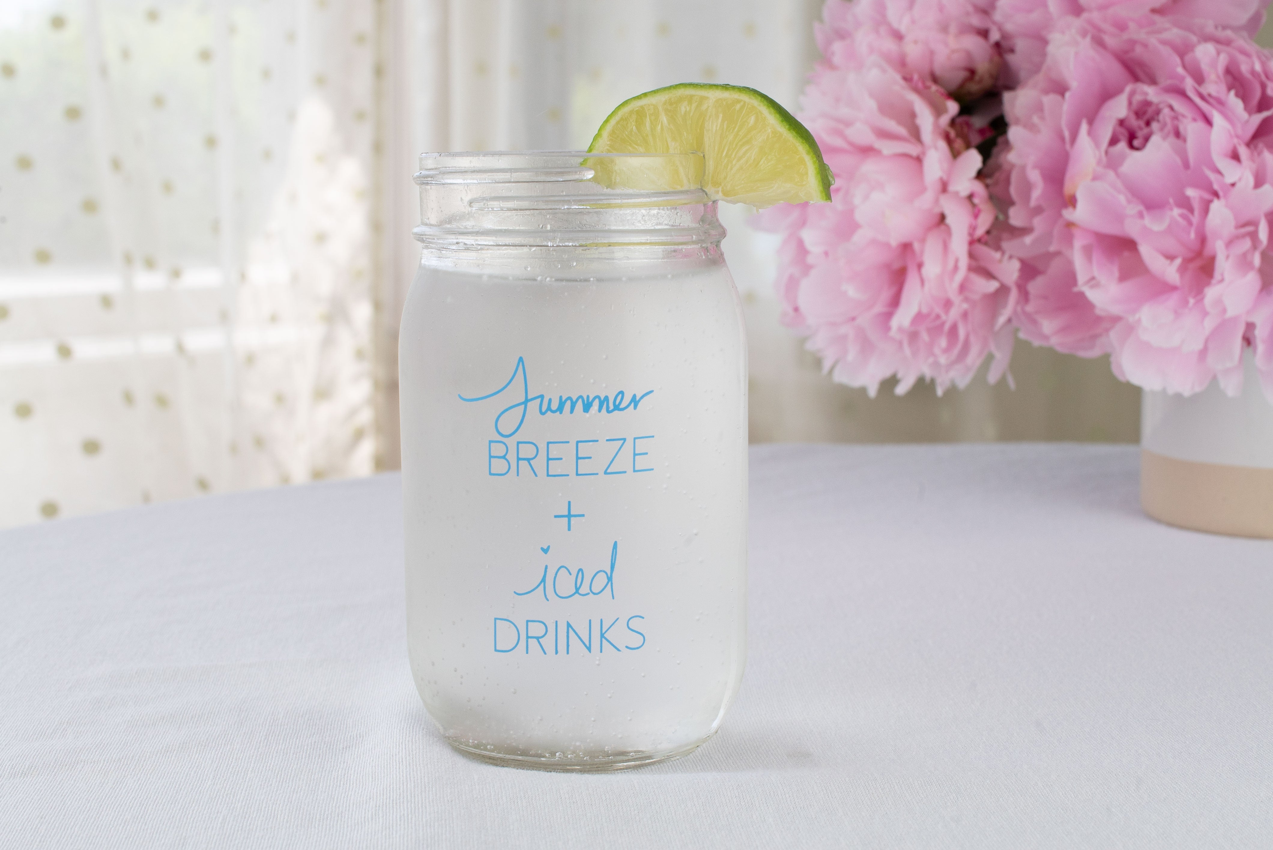 Summer breeze + Iced Drinks Mason Jar | 16oz