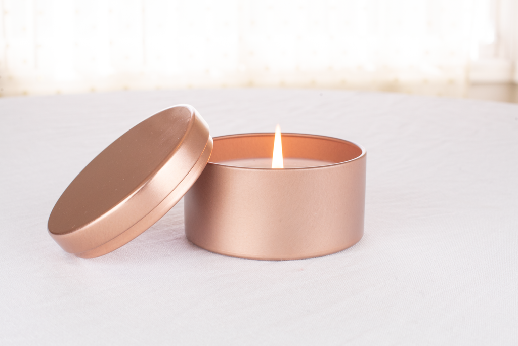 Lavender Eucalyptus Rose Gold Tin Candle