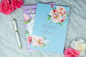 Take My Cue From Flowers Notebook
