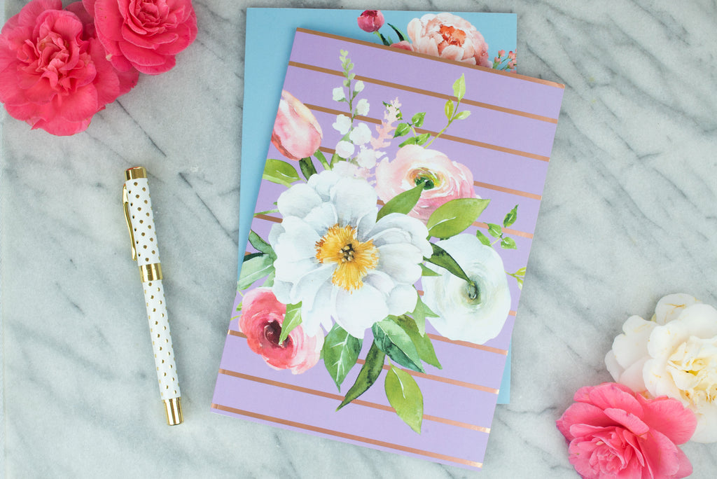 Blossom Stripes Notebook