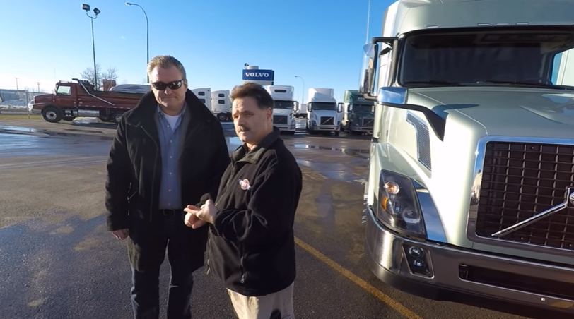 Canadian Trucker Magazine Demo Autosock in Winnipeg