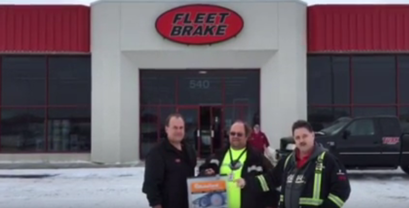 Autosock prize given out at Fleet Brake Winnipeg