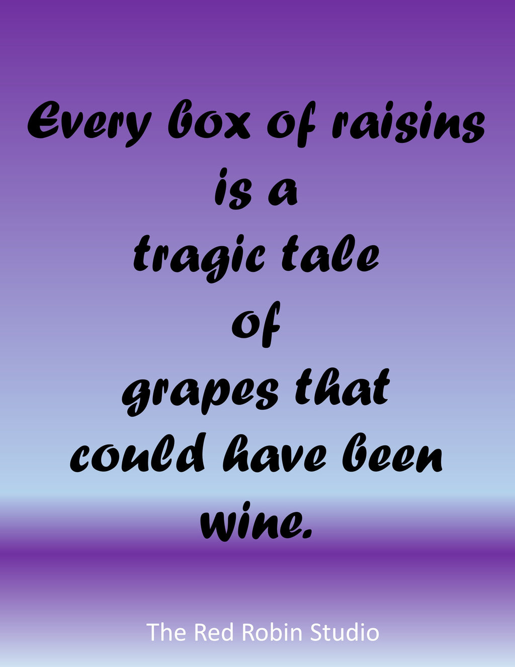 Tragic raisins printable - The Red Robin Studio