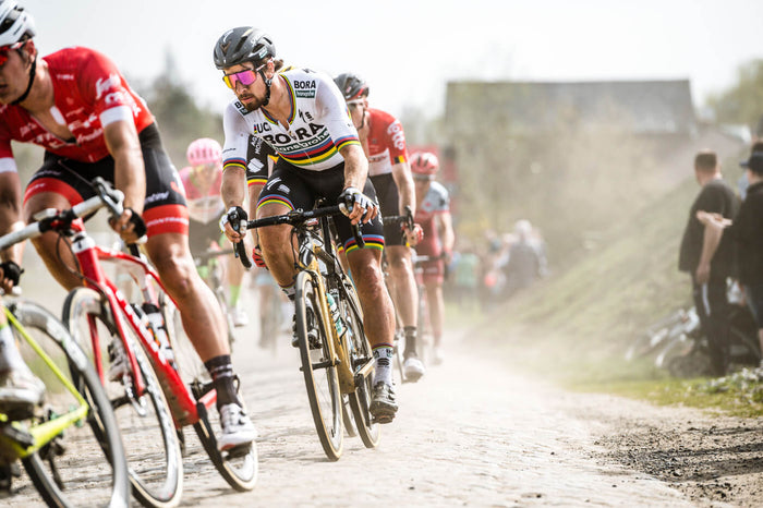 Peter Sagan en-route to the first Paris-Roubaix victory on aero carbon wheels