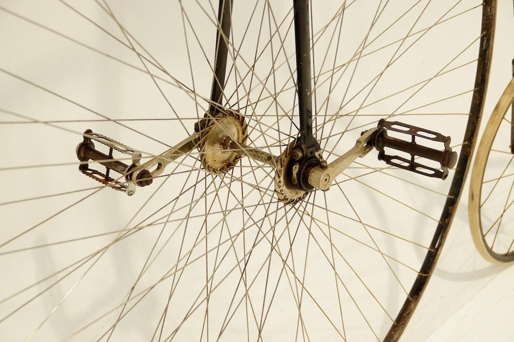 Historical image of bike spokes