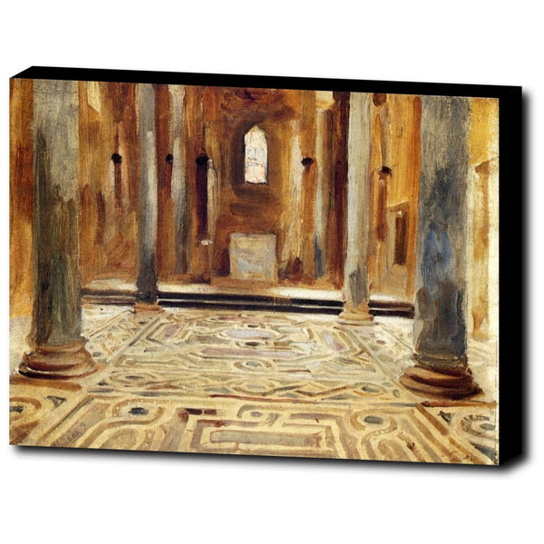 Premium Canvas Gallery Wrap - A Mosque, Cairo By John Singer Sargent