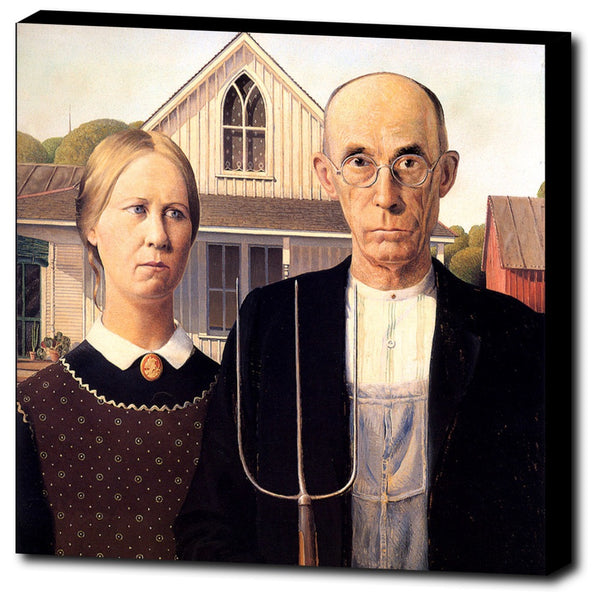 Premium Canvas Gallery Wrap - American Gothic By Grant Wood