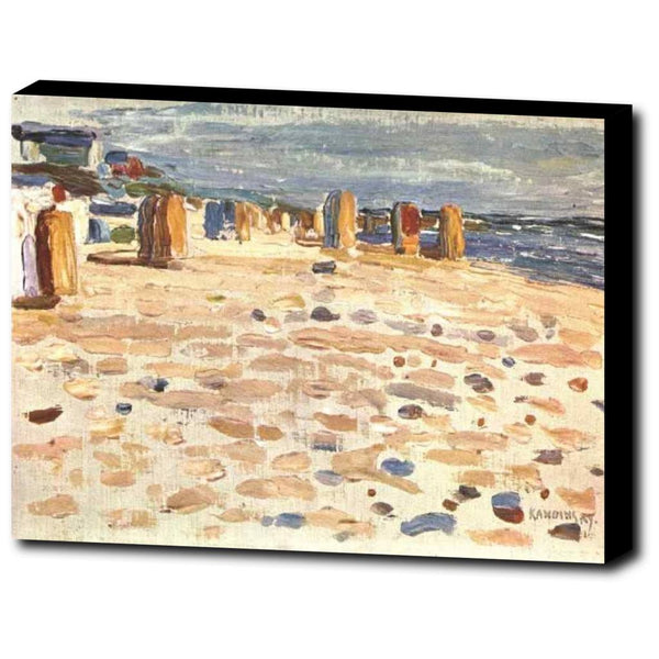 Premium Canvas Gallery Wrap - Beach Baskets In Holland By Wassily Kandinsky