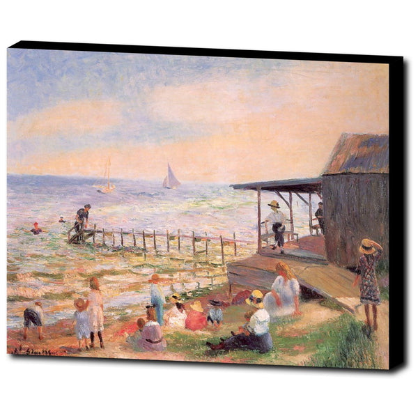 Premium Canvas Gallery Wrap - Beach Side By William James Glackens