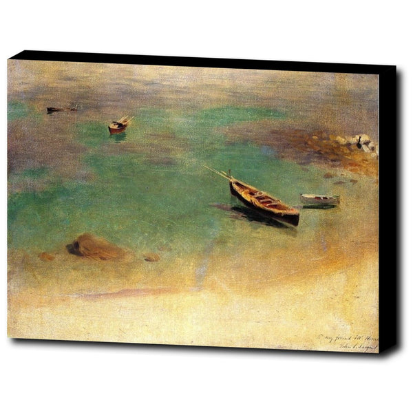 Premium Canvas Gallery Wrap - Boat In The Waters Off Capri By John Singer Sargent