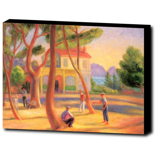 Premium Canvas Gallery Wrap - Bowlers, La Ciotat By William James Glackens