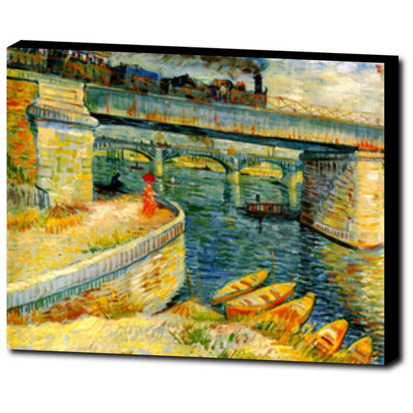 Premium Canvas Gallery Wrap - Bridges Across The Seine At Asnieres By Vincent Van Gogh