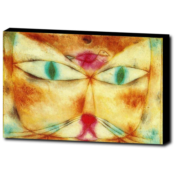Premium Canvas Gallery Wrap - Cat And Bird By Paul Klee