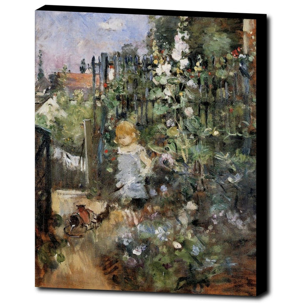 Premium Canvas Gallery Wrap - Child In The Rose Garden By Berthe Morisot