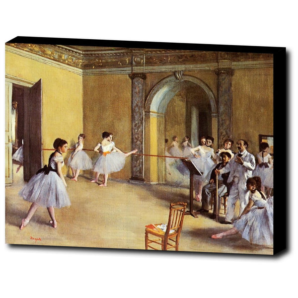Premium Canvas Gallery Wrap - Dance Class At The Opera By Edgar Degas