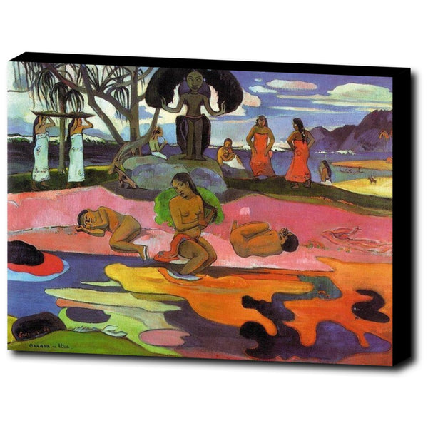 Premium Canvas Gallery Wrap - Day Of The Gods By Paul Gauguin