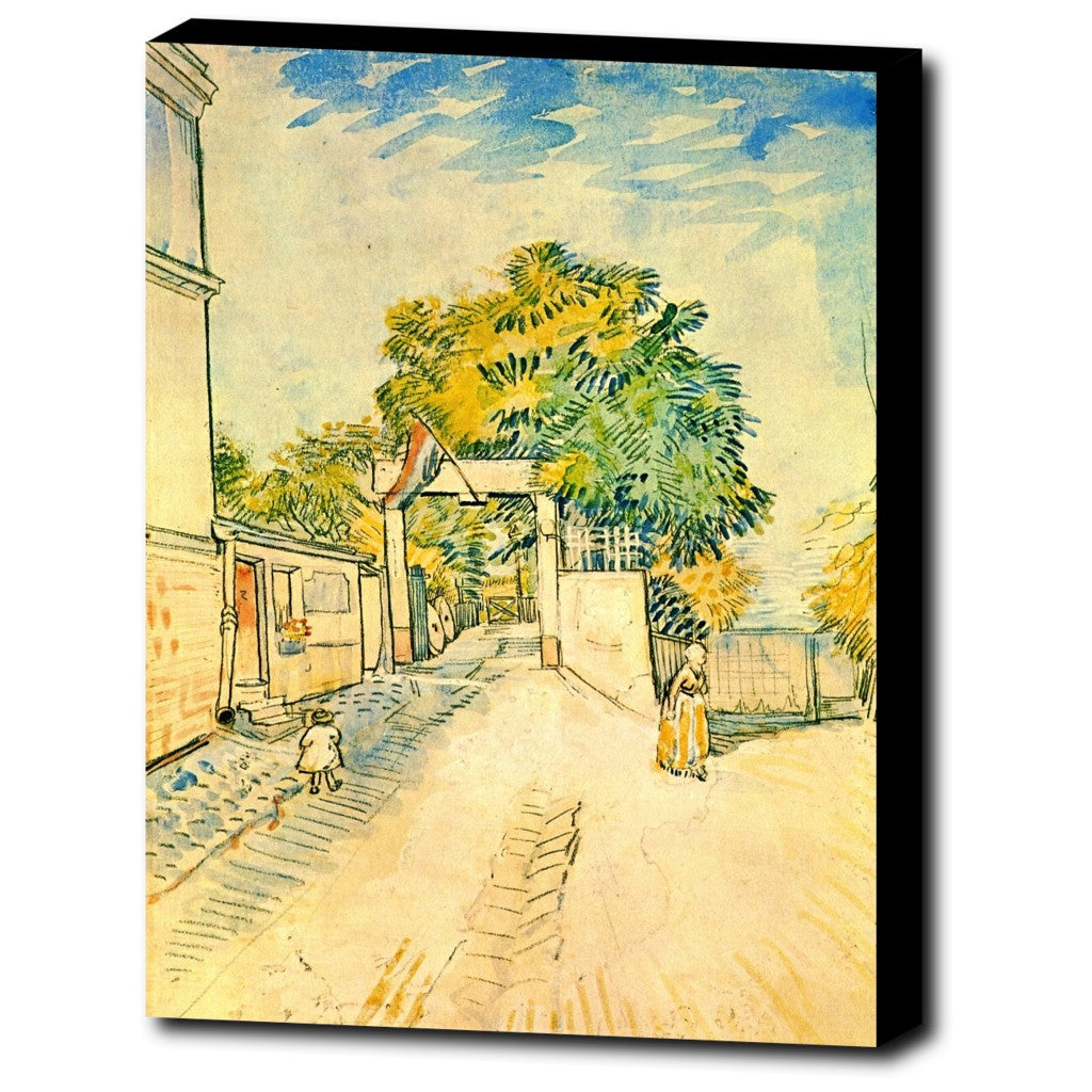 Premium Canvas Gallery Wrap - Entrance To The Moulin De La Galette By Vincent Van Gogh